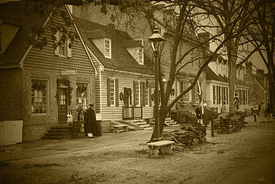 Photograph - Colonial Morning - Bw by Lou Ford
