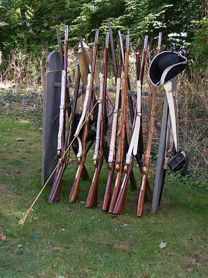 Photograph - Colonial Muskets And Rifles by Margie Avellino