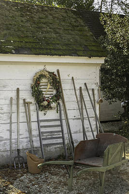 Wheat Chain Photograph - Colonial Nursery Potting Shed by Teresa Mucha