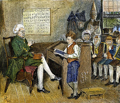 One Room School Houses Photograph - Colonial Schoolmaster by Granger