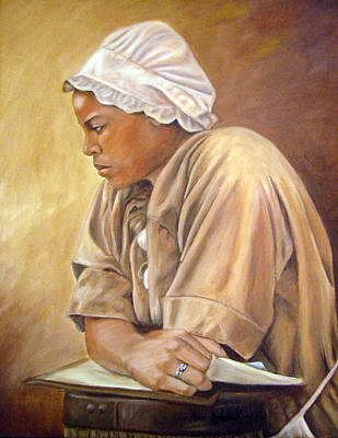 Painting - Colonial Serving Girl by Anne Kushnick