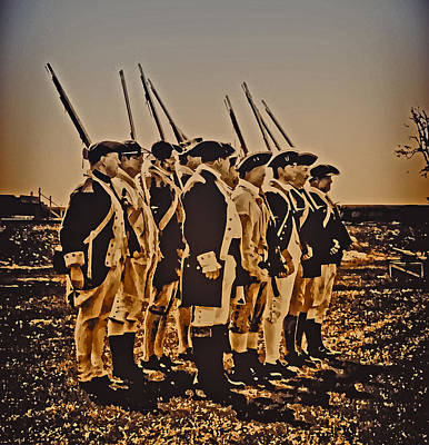 Colonial Soldiers On Parade Art Print by Bill Cannon