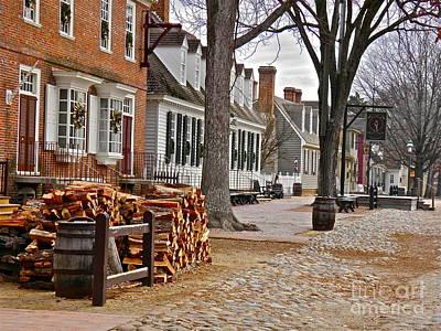 Williamsburg Photograph - Colonial Street Scene by E Robert Dee