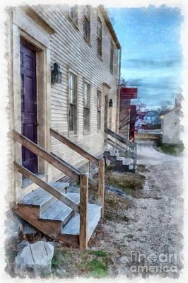 Digital Art - Colonial Townhouses Strawberry Bank Portsmouth by Edward Fielding