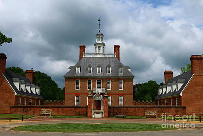 Photograph - Colonial Williamsburg  Governers Palace  by Christiane Schulze Art And Photography