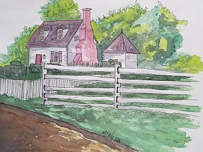 Colonial Williamsburg Painting - Colonial Williamsburg Home by Johnny McNabb
