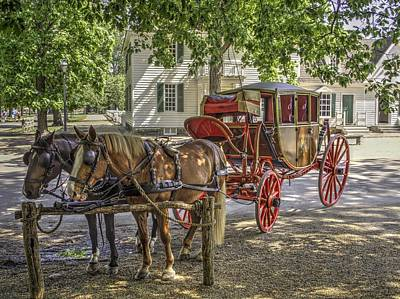 Colonial Actors Photograph - Colonial Williamsburg  V1 by John Straton