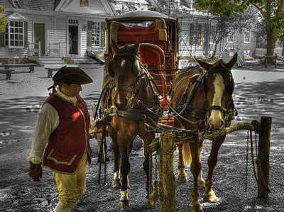 Colonial Actors Photograph - Colonial Williamsburg  V15 by John Straton