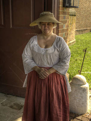 Colonial Actors Photograph - Colonial Williamsburg  V7p by John Straton