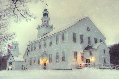 Photograph - Colonial Winter Scene - Washington, Nh by Joann Vitali