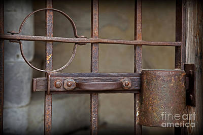 Photograph - Colonial Wrought Iron Door by John Stephens
