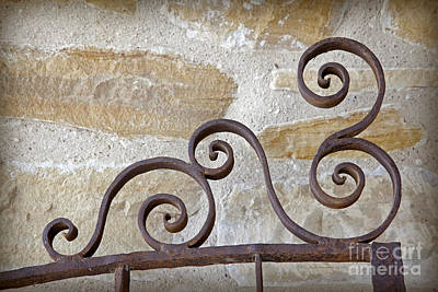 Photograph - Colonial Wrought Iron Gate Detail by John Stephens