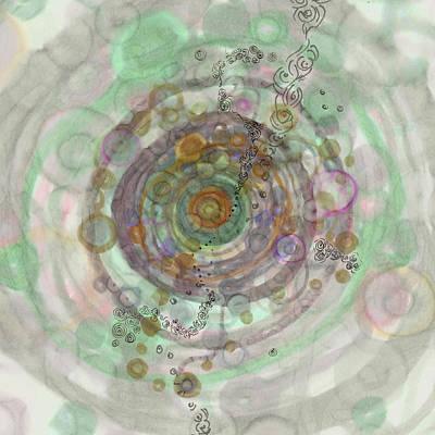 Painting - Colonization Square Digital Modification by Regina Valluzzi