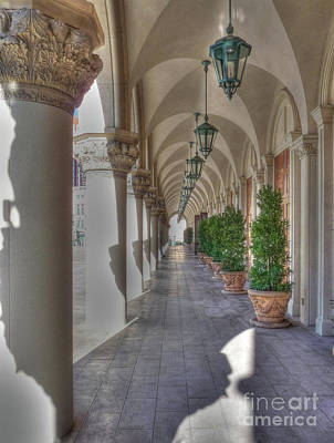 Photograph - Colonnade At The Venetian by David Bearden