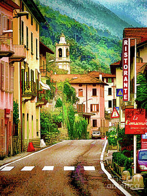 Digital Art - Colonno.lake Como by Jennie Breeze