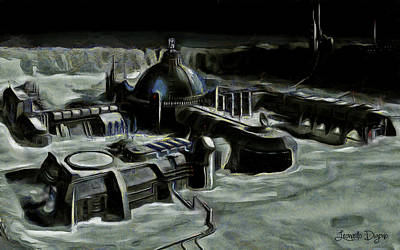 Spacecraft Digital Art - Colony - Da by Leonardo Digenio