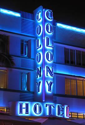 Photograph - Colony Hotel On Ocean Drive 2 by Frank Mari