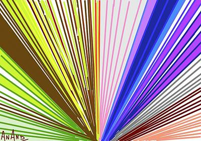 Digital Art - Color Abstraction-7 by Anand Swaroop Manchiraju