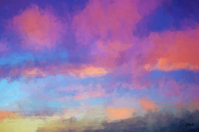 Digital Art - Color Abstraction Xlviii - Sunset by Dave Gordon