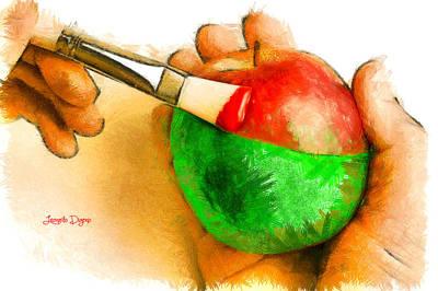 Organic Digital Art - Color Apple - Da by Leonardo Digenio