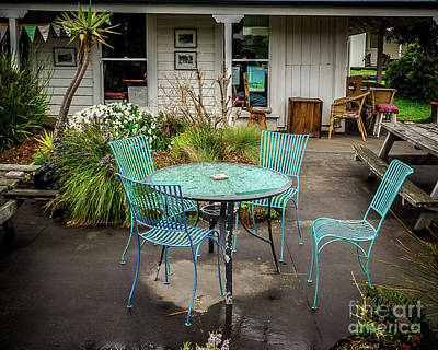 Photograph - Color At Cafe by Perry Webster