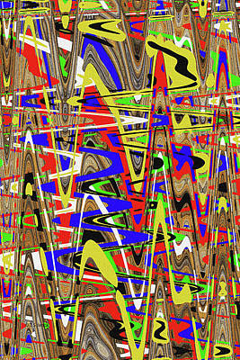 Digital Art - Color Bars Abstract by Tom Janca