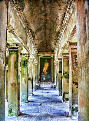Photograph - Color Buddha Temple Angkor Wat  by Chuck Kuhn