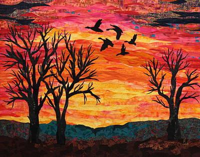 Autumn Landscape Mixed Media - Color Burst by Dattatreya Phadke