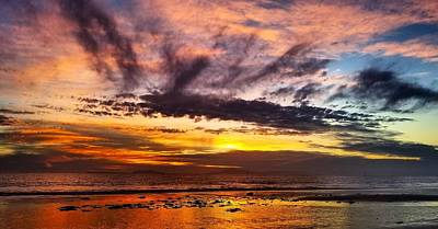 Color Burst Malibu Sunset Art Print
