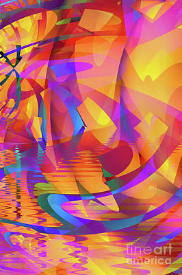 Creativity Digital Art - Color Chaos by John Edwards