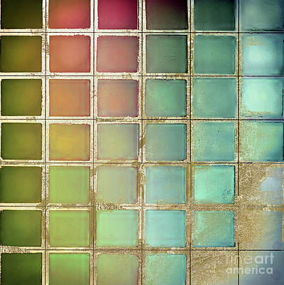 Color Chart Olives And Greens Art Print by Mindy Sommers