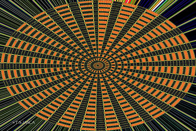 Digital Art - Color Circle Orange Abstract by Tom Janca