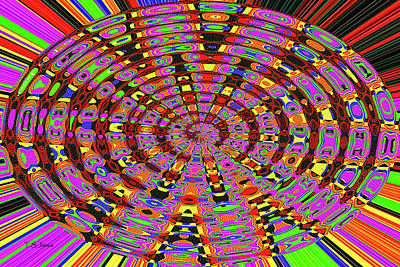 Digital Art - Color Circles Abstract #94 by Tom Janca
