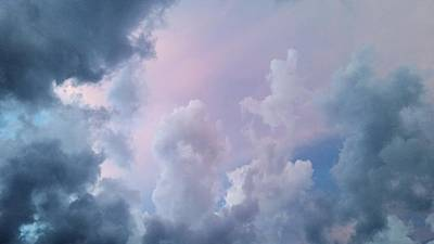 Photograph - Colorful Clouds Going Up by Ally White