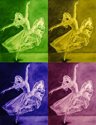 Color Dancer Art Print
