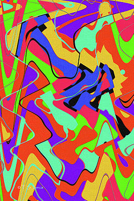 Digital Art - Color Drawing Abstract #3 by Tom Janca
