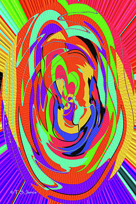 Digital Art - Color Drawing Abstract #4 by Tom Janca