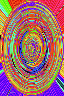 Digital Art - Color Drawing Abstract #7 by Tom Janca