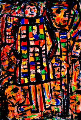 Outsider Art Mixed Media - Color Expression-3 by Natalie Holland