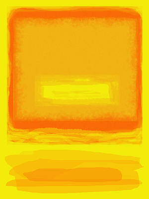 Painting - Color Field Sunset Yellow by Anne Cameron Cutri