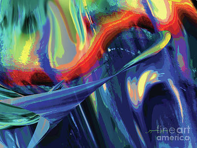 Digital Art - Color Flight by Jacqueline Shuler