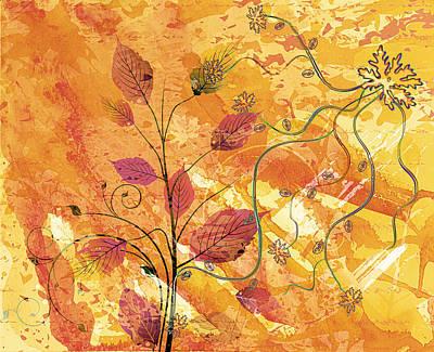 Decorating Mixed Media - Color Flirt Abstract by Georgiana Romanovna