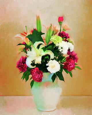 Photograph - Color Flower Vase by Carlos Diaz