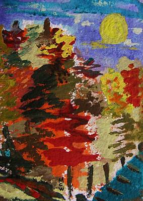 Mary Carol Art Drawing - Color Forest by Mary Carol Williams