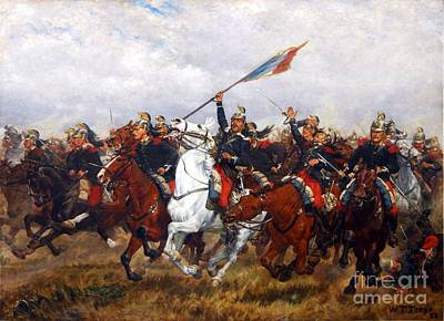 Color Guard Painting - Color Guard French Dragoons by Pg Reproductions