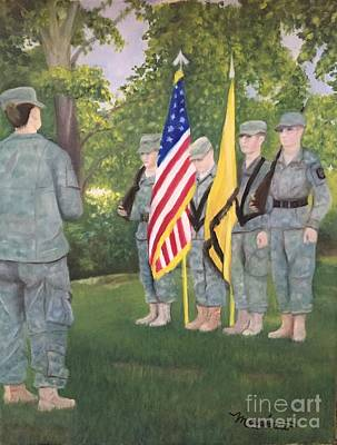 Army Air Service Painting - Color Guard by Sheila Mashaw