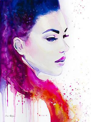 Girls Mixed Media - Color Illusions by Slavi Aladjova