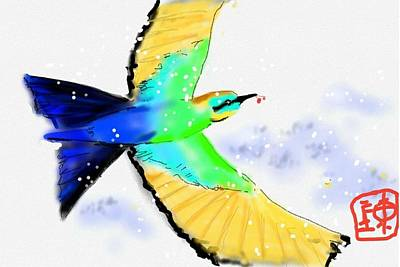 Digital Art - Color In Flight by Debbi Saccomanno Chan