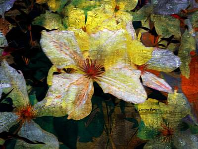 Mixed Media - Color In My Garden by Lenore Senior