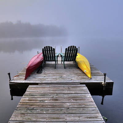 Photograph - Color In The Fog by David Patterson